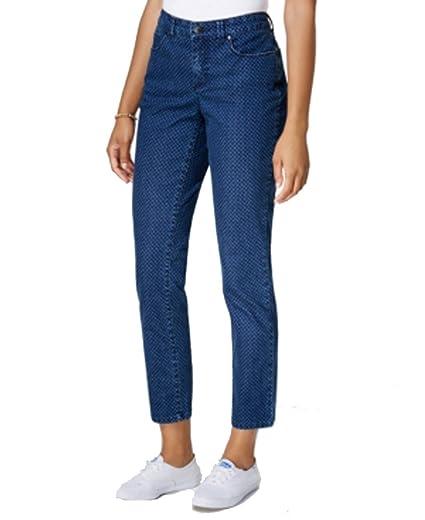 025b142417d Charter Club Bristol Printed Skinny Ankle Jean (Medium Blue Dot