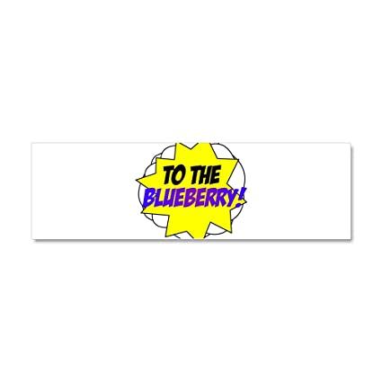 Cafepress psych to the blueberry car magnet 10 x 3 car magnet