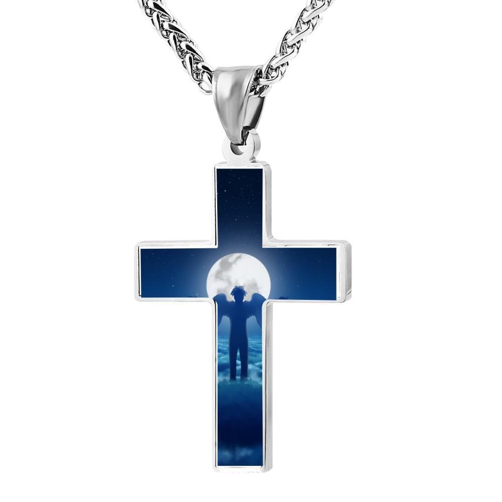 Kenlove87 Patriotic Cross Xxxtentacion Religious Lord'S Zinc Jewelry Pendant Necklace