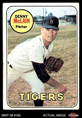 Denny Tigers Detroit Mclain (1969 Topps # 150 Denny McLain Detroit Tigers (Baseball Card) Dean's Cards 3 - VG Tigers)