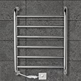Contemporary Mirror Polished Wall Mounted Towel Warmer , 110-120V