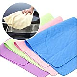 Dry Hair Towel Maserfaliw,Magic Towel Cloth Absorber Synthetic Chamois Leather Goods Car Washing Hair Dry - Random Color 30x20cm