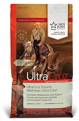 UltraCruz Equine Wellness/Joint Care Supplement for Horses 10 lb. pellets, 28 day supply by UltraCruz