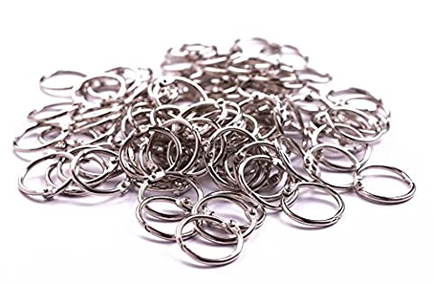 Shapenty Metal Scrapbooking Paper Photo Book Binding Rings Card Organization Loose Leaf Binder Ring Clip Silver Openable Key Chain Ring Bulk Keychain (3/4 Inch / 20mm, - Binder Scrapbooking Paper