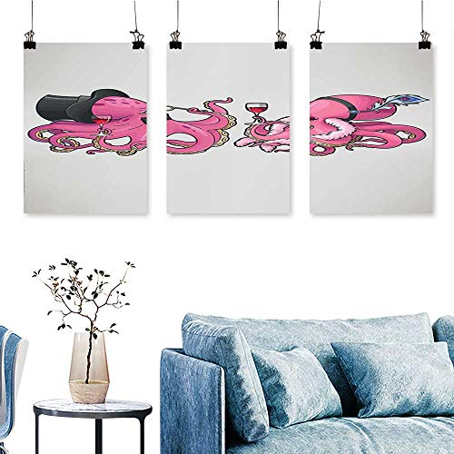 SCOCICI1588 3-Piece Triptych Cartoon Art Illustration, used for sale  Delivered anywhere in Canada