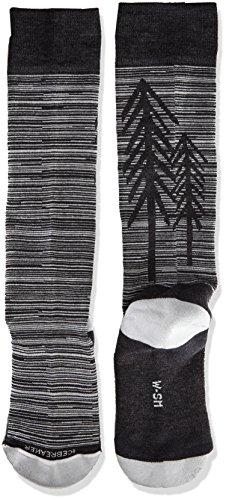 Icebreaker Merino Women's Lifestyle Light Over The Calf Socks, Jet Heather/Snow, Small by Icebreaker Merino (Image #2)