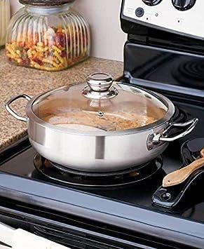 Horno holandés estufa cocina de acero inoxidable utensilios de cocina w/tapa de cristal nuevo; # g344t3486g 34bg82g461616: Amazon.es: Juguetes y juegos