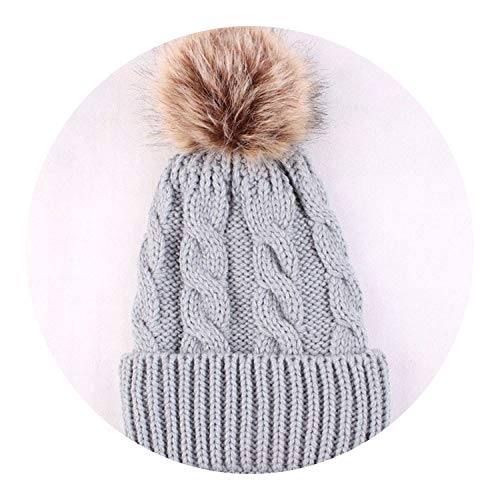 1Pc Fashion Candy Colors Mom or Baby Knitting Keep Warm Hat Women Winter Hat,Gray for mom