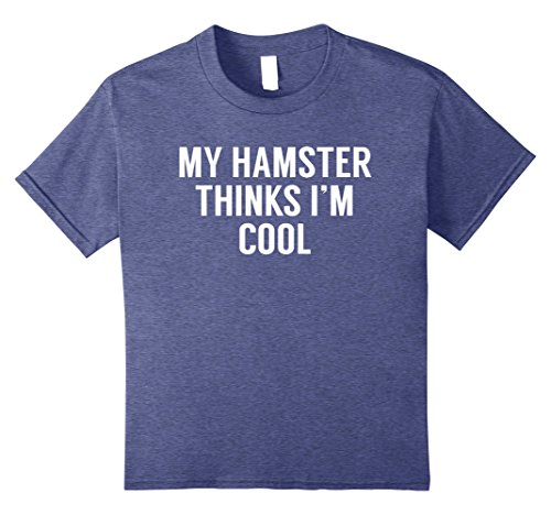 Price comparison product image Kids My Hamster Thinks I'm Cool - Funny Hamster Tshirt 8 Heather Blue