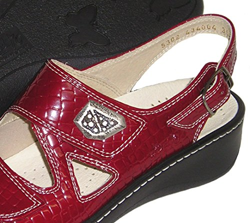 Fidelio Womens Hallux Fabia Bunion Relief Verstelbare Sandaal 434004 (rood)