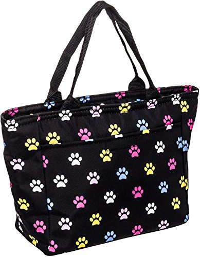 (SilverHooks Womens Paws Insulated Lunch Tote Bag (Multicolor))