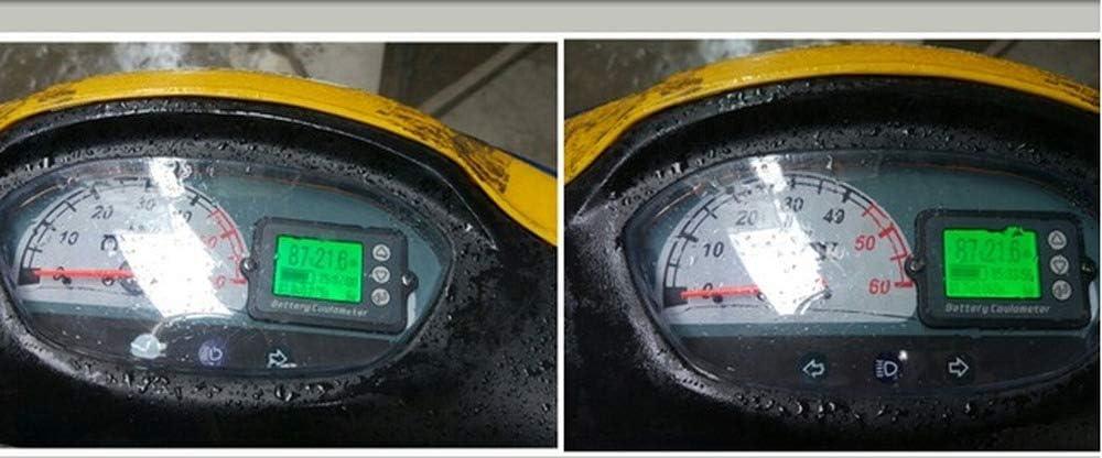 Indicateur De Capacit/é De Batterie 80V TK15 50A Compteur Coulomb Voltm/ètre Coulom/ètre Niveau De Puissance Affichage Au Lithium Phosphate De Fer Testeur De Fil