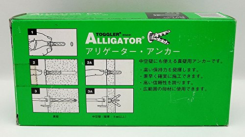 TOGGLER ALLIGATOR AF8 Flanged Anchor, Polypropylene, Made in US, For #8 to #14 Fastener Sizes (Pack of 100) by TOGGLER (Image #2)