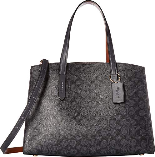 COACH Women's Charlie Carryall in Signature Canvas Li/Charcoal Midnight Navy One Size