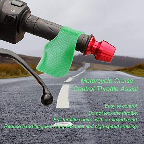 Sala-Store - 1Pcs Plastic Green Motorcycle Cruise Control Grip Throttle Assist Wrist Rest Universal for Harley Davidso Motorcycle ()