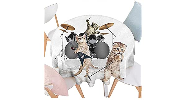 Fantastic Amazon Com Cheery Home Roundtable Cloth Animal Decor Cool Squirreltailoven Fun Painted Chair Ideas Images Squirreltailovenorg