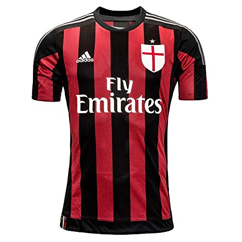 adidas Soccer AC Milan Home Player Jersey Youth. (Large)