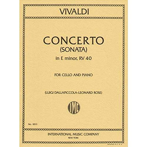 (Vivaldi Antonio Sonata in e minor F. XIV No5 RV 40. For Cello and Piano. Leonard Rose International)