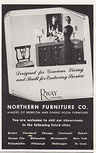 1945 Rway Furniture Gracious Living Buffet Northern Company Print Ad