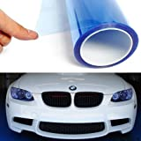 Automotive : 12 by 48 Inches Self Adhesive Headlight, Tail Lights, Fog Lights Tint Vinyl Film (12 X 48, Light Blue)