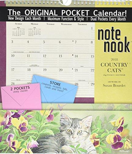 The LANG Companies WSBL Country Cats 2018 note Nook Office Wall Calendar (Note Nook Wall Calendar)