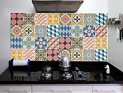 Decorazione cucina parete piastrelle adesivi tradizionale set di