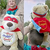 Personalized Super Hero Plush Toy - 14.5 Inch (Super Hero Bear)