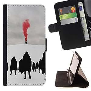 Momo Phone Case / Flip Funda de Cuero Case Cover - Red Metal Blood Goth Invierno Oscuro - LG G3