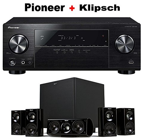 Pioneer Surround Sound A/V Receiver - Black (VSX-532) + Klipsch HDT-600 Home Theater System Bundle