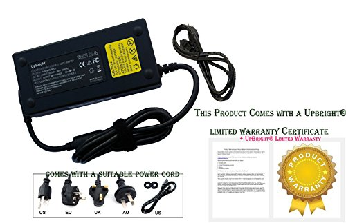 UpBright NEW 130W AC / DC Adapter For Dell Inspiron 15 7567 I7567-5000BLK I7567-5650BLK XPS 15 15z 9530 Touch Screen Laptop Notebook Power Supply Cord Cable PS Battery Charger Mains PSU ()