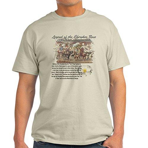 CafePress Cherokee Rose Legend Ash Grey T-Shirt 100% Cotton T-Shirt (Rose Ash T-shirt Grey)