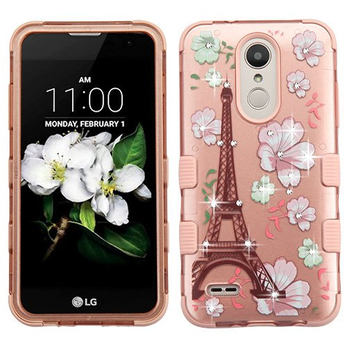 /LG REBEL 3/LG TRIBUTE DYNASTY Case Diamond Bling Phone Cover Shockproof [Military Drop Tested] [Heavy Duty] Impact Resistant (PARIS) ()