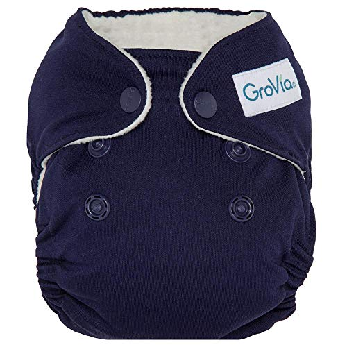 GroVia Newborn All in One Snap Reusable Cloth Diaper (AIO) (Arctic)