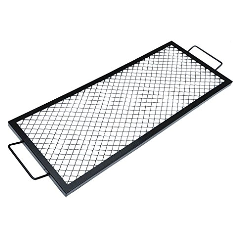 onlyfire Rectangle X-Marks Fire Pit Cooking Grate, (Custom Grill Grates)