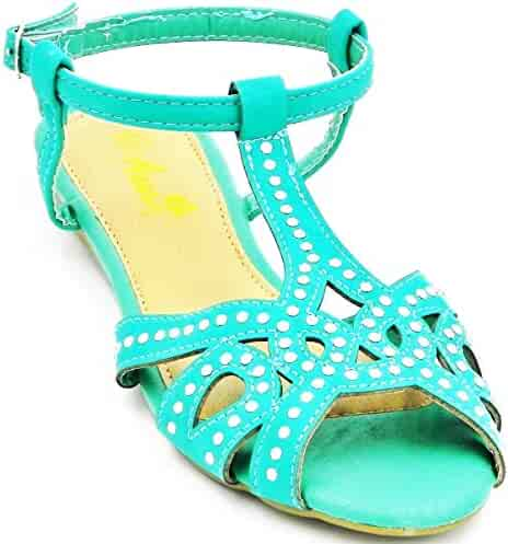 b2905193569c Women s New Fashion Rhinestone Close Toe Gladiator Sandals Adjustable  Buckle Anna Bailey Shoes