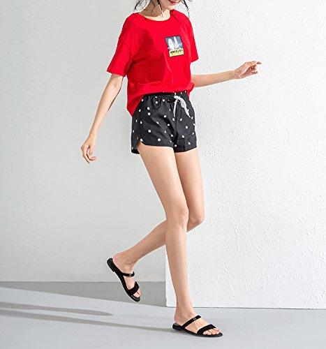 moda tacco estivi basso alla donna 38 piatti Sandali tacco da basso casual DHG Sandali con Nero Tacchi alti Pantofole Sandali a YqA5Z