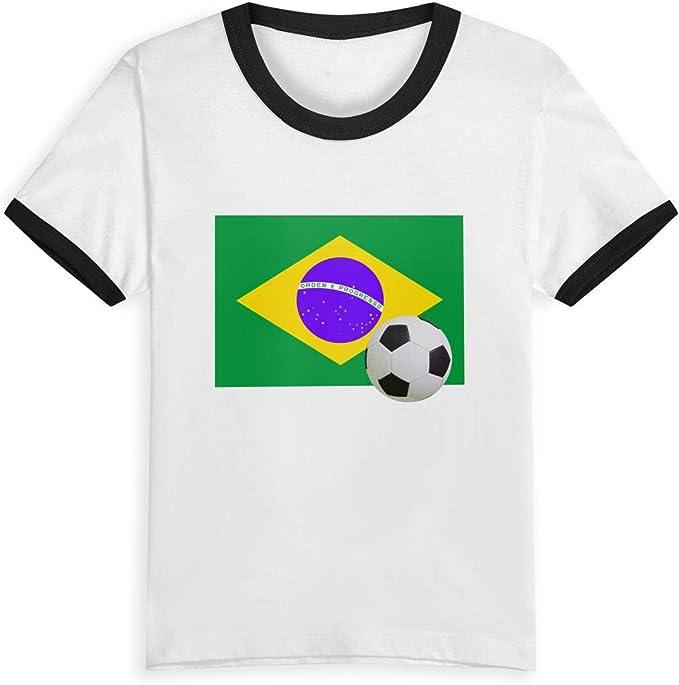 Queen Elena Bandera de Brasil con un balón de fútbol, Camiseta ...