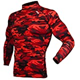 thermal base layer kids - DRSKIN Thermal Wintergear Fleece Coldgear Tight thermal Compression Base Layer Long Sleeve Under top shirts (Hot SMRE10, S)