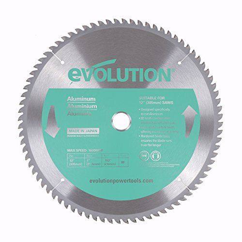 Evolution Power Tools 12BLADEAL Aluminum Cutting Saw Blade, 12-Inch x 80-Tooth