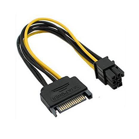 OWIKAR 2 Pack Cable de alimentación SATA de 15 pines a 6 ...