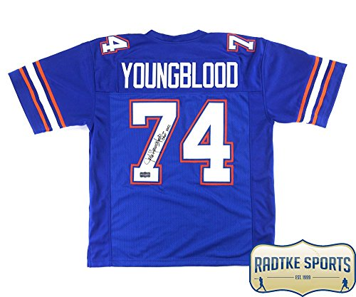 Jack Youngblood Autographed/Signed Florida Blue Custom for sale  Delivered anywhere in USA