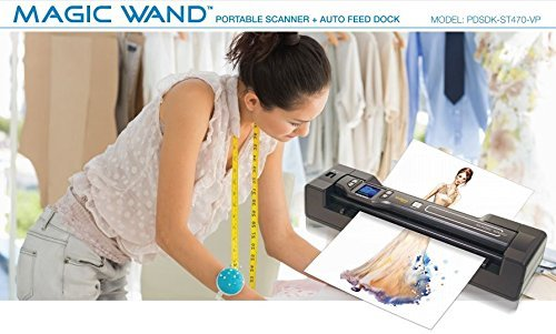 Vupoint Solutions Magic Wand Portable Scanner with 1.5 Inch Color LCD Display and Auto-Feed Dock - for Photo, Document, Receipt (PDSDK-ST470-VP) by VuPoint Solutions (Image #1)