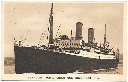 (Postcard Canadian Pacific Liner)