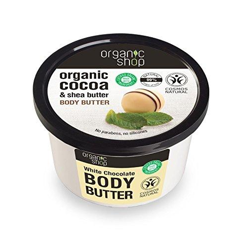 Organic shop - Body butter white chocolate organic cocoa & shea butter 250ml 4744183011816