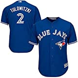 Troy Tulowitzki Toronto Blue Jays MLB Majestic Youth Blue Alternate Replica Jersey (Size Large 14-16)