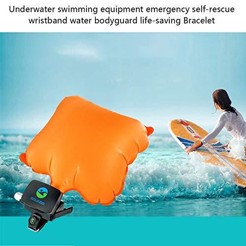Cloverclover Pulsera Salvavidas Airbag Inflable Buceo Novato Esencial para el Auto-Rescate