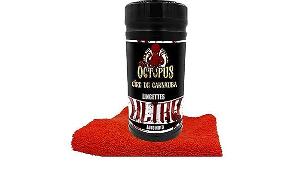 Red Octopus: bote de 80 toallitas ULTRA a la cera de carnaúba + bayeta de microfibra de regalo, para moto: Amazon.es: Coche y moto