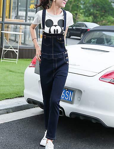 Donna Slim Da Alta Unita Jeans Navy Tinta Pantaloni Yfltz Blue In Vita ERq44x