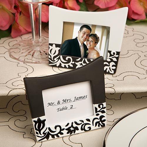 Damask design picture frames-place card holders, 1