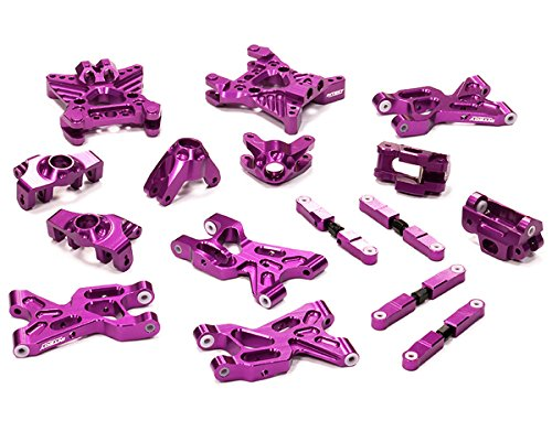 Integy RC Model Hop-ups T5025PURPLE Billet Machined Suspension Set Package for HPI 1/12 Savage XS Flux